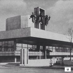 socheritage:  Maxim-Gorki-Dramatheater, Tula, Russia, built in 1970, Architect: S.Galadshewa, W. Krasilnikow, A.Popow, W. Schulrichter