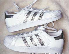 new arrivals abef7 8ee41 Women  Adidas Originals Superstar with SWAROVSKI® Xirius crystal clear  Crystals - Custom Shoes - Swarovski Adidas - Adidas Classic - Gift