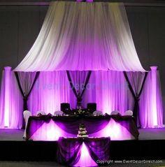 30ft Tall Sheer Curtain for Draping Wedding Backdrop Party Drape Decor Ivor | eBay