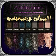 Younique Special Edition Anniversary Palette Glitter Eyeshadow Holiday Eye Looks