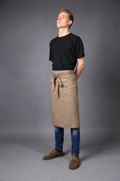 Linen apron, Chef apron, natural flax apron, waitress apron, linen apron, cooking apron, workshop apron