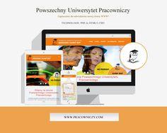 Projekt strony www dla Powszechnego Uniwersytetu Pracowniczego. #mimo #rwd #html5 #css3