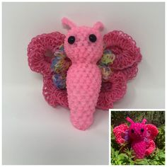 Your place to buy and sell all things handmade Easter Peeps, Easter Bunny, Rainbow Loom Animals, Wonder Loom, Rainbow Loom Creations, Rubber Bands, Latex Free, Dinosaur Stuffed Animal, Butterfly