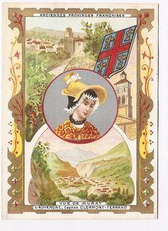 L  Auvergne - Ancienne province Française - Chromo Alcide Picard - Trade card