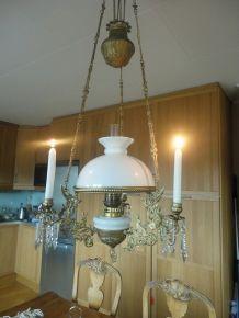 Whynotad (Vakker, Antikk Taklampe Med Prismer)