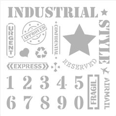 Stencils for spray painting Pintyplus Stencil Painting, Spray Painting, Paint Drying, Chalk Paint, Industrial Style, Cleaning Hacks, Decoupage, Retro Vintage, Stencils