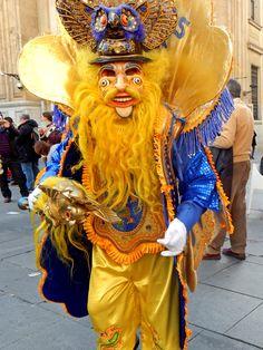 Bolivian Carnival Mask in Seville.