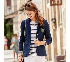 Vypasované sako s podšívkou Bomber Jacket, Vest, Denim, Jackets, Style, Products, Fashion, Blazer Jacket, Full Sleeves