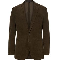 J.CREW Green Ludlow Slim-Fit Cotton-Corduroy Blazer. #j.crew #cloth #blazers