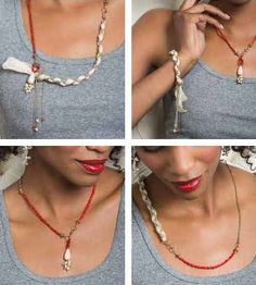 A necklace and a bracelet all in one, the Darjeeling Necklace can be worn in countless fresh, new ways. Wear it long or remove the blush colored ribbon for a delicate