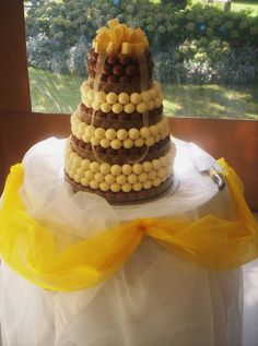 Lindt Wedding Cake - Milk & White. I need someone to get married so I can indulge in this at their wedding.