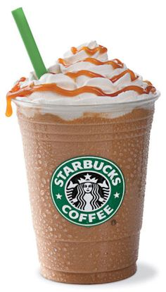 Caramel Frappuccino - My favorite Starbucks drink when it's hot out.