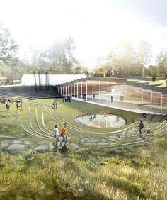 BIG architects: ice hockey rink in umea