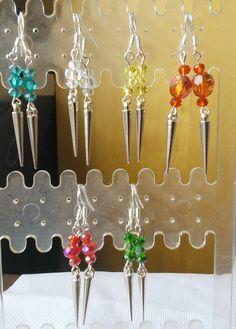 Crystal sterling silver earrings £3.50