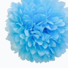 Baby Blue Tissue Paper Pom Poms