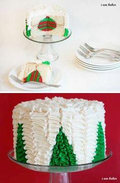 Christmas tree cake -Surprise Inside Cake