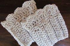 Shell stitch boot cuff crochet pattern free