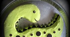Completed Dinosaur cake.....size is good enough for 15 -20 single serves. (Scroll down for details) ------Making----- Drawing Di...