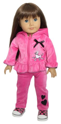 Silly Monkey - Pink Velour Paris French Poodle Jacket and Pants (American Girl Doll), $18.99 (http://www.silly-monkey.com/products/pink-velour-paris-french-poodle-jacket-and-pants-american-girl-doll.html)