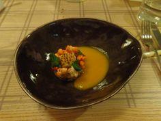 Zander, mango, and corn @ Restaurant Maison Manesse