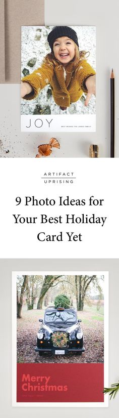 Consider this your permission to skip the snowy, perfectly posed, cable-knit holiday card: 9 EASY photo ideas for your best holiday card yet. These no-stress photo ideas will have you on your way to a holiday send-out in no time.