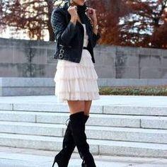 Light Pink Cascading Layer A-line Mini Dress