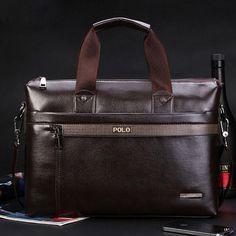 Men Casual Briefcase Business Shoulder Genuine Leather Bag Men Messenger Bags Computer Laptop Handbag Bag Men's Travel Bags - fiijii  - 1