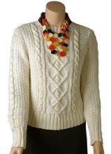 Poonam Aran Pullover:#knit #knitting #free #pattern #freepattern #freeknittingpattern #knittingpattern