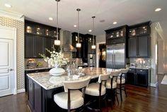 Transitional Kitchen with Stainless Steel, Pendant light, UltraCraft Destiny Breckenridge Cabinetry, Undermount sink, Flush