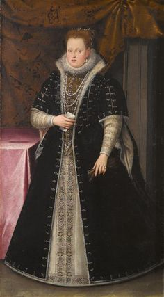 Giovanni Bahuet. About 1552 to 1597 Mantua) portrait of Margherita Gonzaga.