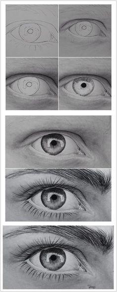 The Secrets Of Drawing Realistic Pencil Portraits - Eye Secrets Of Drawing Realistic Pencil Portraits - Discover The Secrets Of Drawing Realistic Pencil Portraits Cool Art Drawings, Pencil Art Drawings, Art Drawings Sketches, Eye Drawings, Eye Pencil Drawing, Hipster Drawings, Pencil Sketching, Art Illustrations, Illustration Art