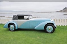 1932 Delage D8 SS Cabriolet by Figoni and Falaschi.