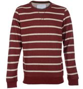 Humor Smack Russet Brown Striped Sweater Thick russet brown stripes throughout sweater flecked with white. Thin white stripes with colourful flecks in between each blue stripe. Ribbed russet brown hem and sleeve cuffs. Olive green piping ins http://www.comparestoreprices.co.uk/mens-clothes/humor-smack-russet-brown-striped-sweater.asp