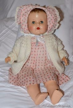 "COMPOSITION AND CLOTH MAMA DOLL, 24"", WORKING CRYER, BEAUTIFUL CLOTHING 