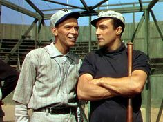 """Frank Sinatra and Gene Kelly in """"Take Me Out To The Ball Game."""" Gene certainly had some nice arms!"""