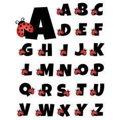 Silhouette Design Store: ladybug alphabet