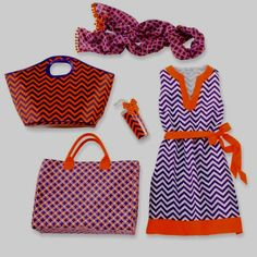 Love orange & purple... Clemson game day Ready!