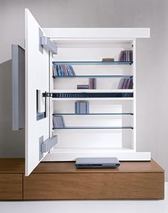 TV unit - move able front for hidden storge
