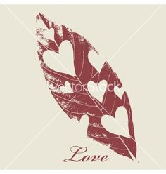 Love, leaves and flowers vector by Depiano on VectorStock®