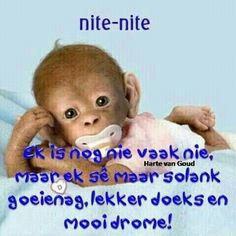 Cute Picture Quotes, Cute Quotes, Good Night Wishes, Good Night Quotes, Good Night Sleep Tight, Afrikaanse Quotes, Goeie Nag, Goeie More, Daily Thoughts