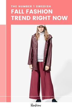 On my recent trip to Stockholm, I scoured the streets to see what fashion item was trending among the effortlessly cool Swedes. Here's how to do fall fashion like a Swede. #Swedish #fashion #raincoat Fall Fashion Trends, Autumn Fashion, Swedish Fashion, Color Trends, Stockholm, Athleisure, What To Wear, Duster Coat, Rain Jacket