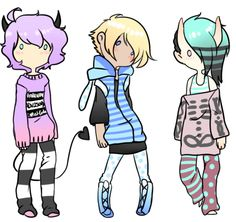 Pastel Goth Guys Adopts - closed by Tenshilove on DeviantArt