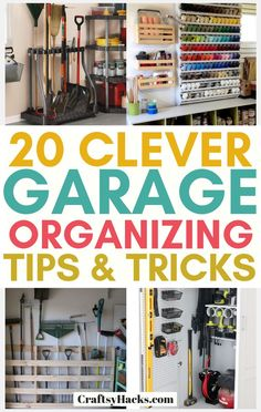 Try these garage storage ideas and organize clutter much easier. These organizing hacks will help you to keep everything neat and clean. Try these organizing a garage ideas and organize clutter much faster. These garage hacks will help. Garage House, Garage Shed, Diy Garage, How To Organize Garage, Garage Mudrooms, Garage Closet, Garage Doors, Easy Garage Storage, Garage Storage Solutions