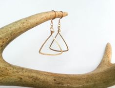 Triangle Earrings by gilded fern