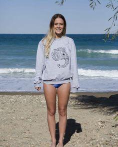 Tahouts Grey Elephant Sweatshirts. tahouts.com
