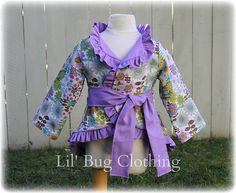 Custom Boutique Clothing Spring Lavender Lime Floral Ruffled Jacket Easter Girl. $44.00, via Etsy.