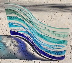 Fused Glass Art Rolling Waves Made to Order by JMFusions on Etsy