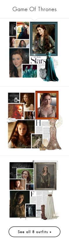 """""""Game Of Thrones"""" by arneia ❤ liked on Polyvore featuring Karl Lagerfeld, Georgie, stoneheart, tully, lady, georgie henley, game, thrones, catelyn and stark"""
