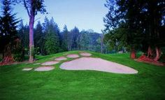 The bear par bunker at Bear Creek Country Club in Woodinville, Washington