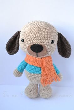 It is a Amigurumi World: Dog / Little Dog (Free Pattern / Free Pattern) Baby Knitting Patterns, Easy Crochet Patterns, Crochet Patterns Amigurumi, Amigurumi Doll, Crochet Dolls, Love Crochet, Crochet Baby, Best Birthday Gifts, Crochet Animals